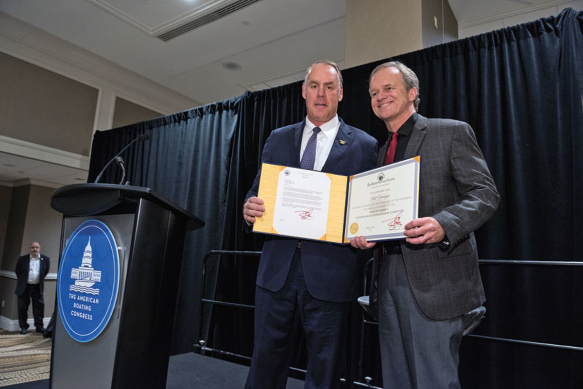 U.S. Secretary of the Interior Ryan Zinke (left) named Correct Craft president and CEO Bill Yeargin  to the Made In America Outdoor Recreation Advisory Committee.
