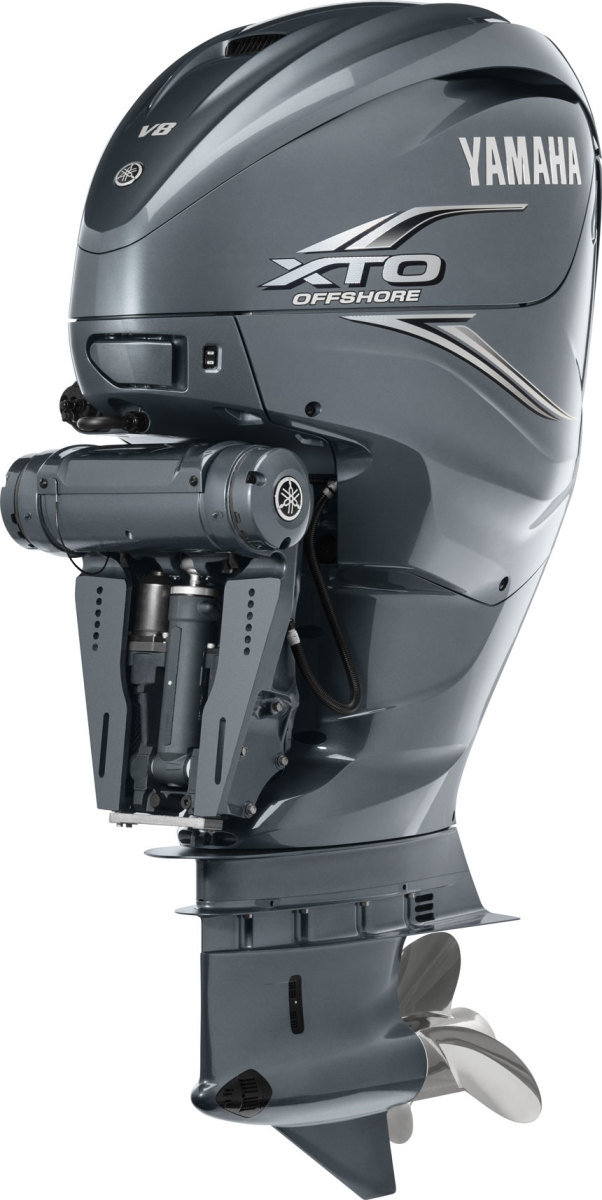 The new Yamaha XTO Offshore, a 425-hp 5.6-liter V-8 4-stroke.