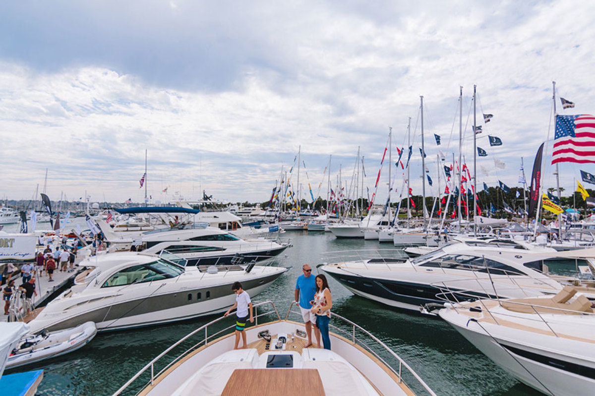 The San Diego show features new and brokerage boats.