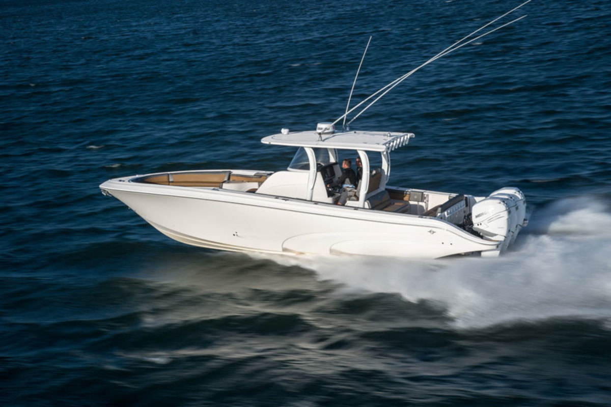 The Fountain 39 NX is one of three new models being unveiled at the Lake Race this weekend.
