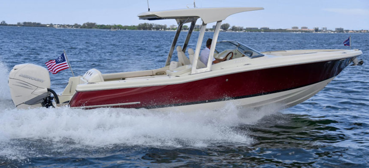 Winnebago wants to build a larger presence in the marine industry over time. Show here: Chris-Craft's 26-foot Calypso.