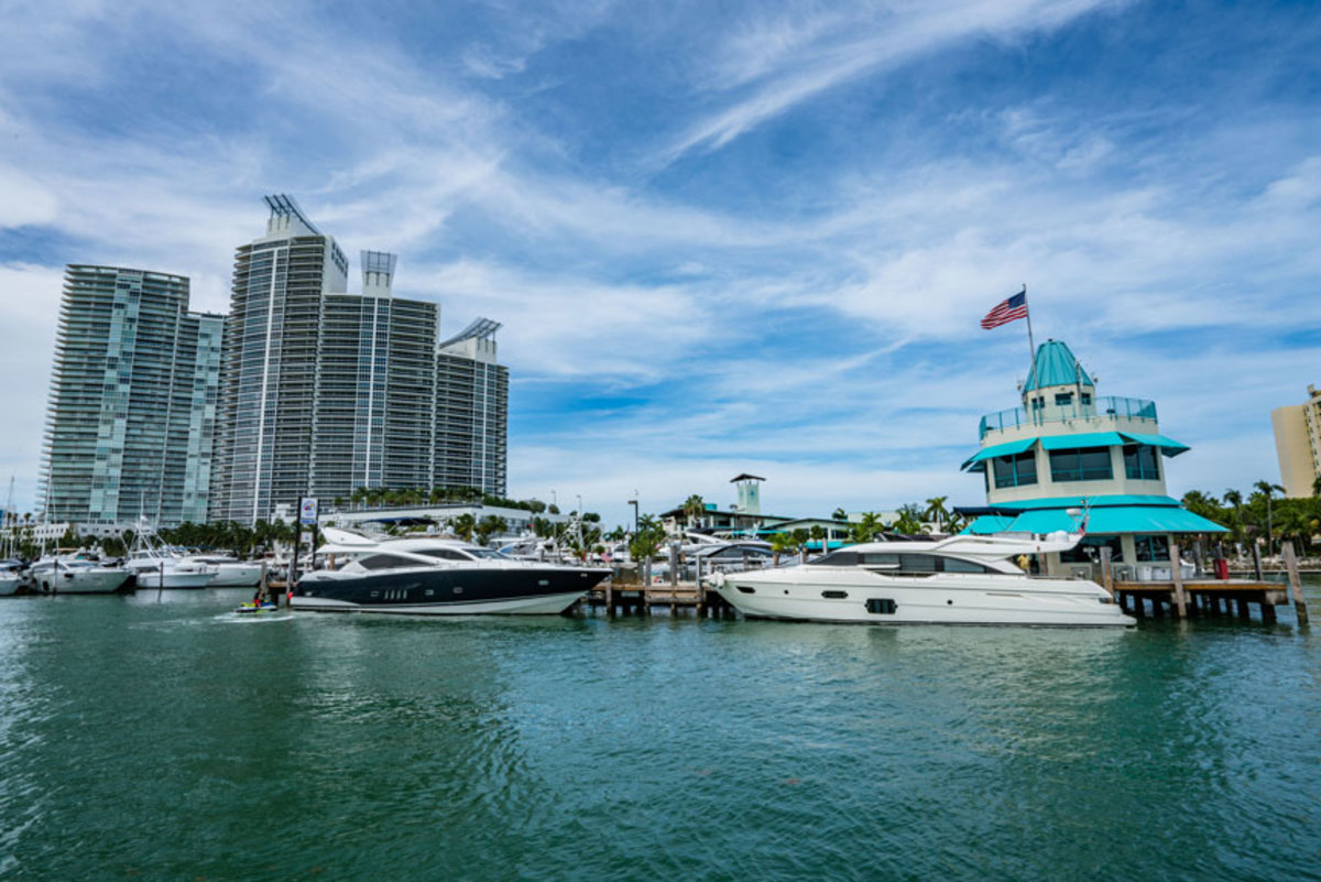 With deep water and easy access to Miami's Government Cut the new MarineMax location is ideal for sea trials.