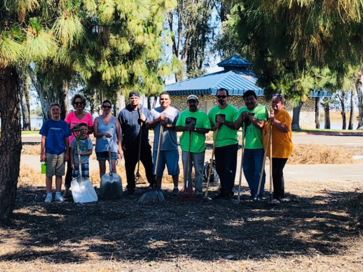 Centurion and Supreme employees and their families volunteered to clean up the shore at Lake Yosemite in Merced, Calif.