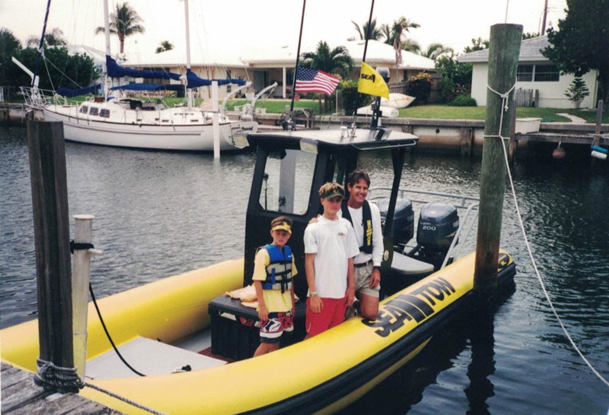 Will and the boys have spent countless hours heading out on the Sea Tow Palm Beach vessels.