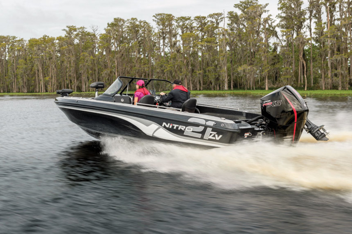 The Pro XS series is designed for weight-conscious applications like this Nitro multi-species fishing boat.