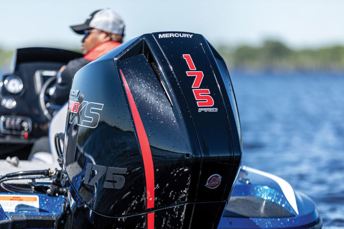 The 175-hp Pro XS is a new  V-6 outboard targeted at fresh and saltwater anglers.