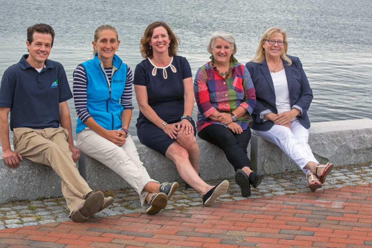 From left, the RIMTA team includes Brian Dursi, Jen Huber, Mackie, Susan Daly and Tricia Yeoman.
