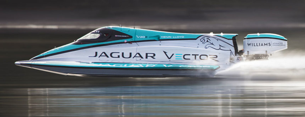 The Jaguar Vector team's boat beat the old record by just under 10 mph.