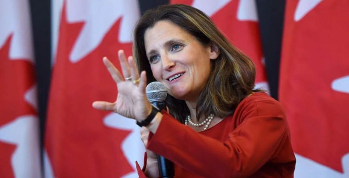 Canadian Foreign Minister Chrystia Freeland has heard boating industry worries about upcoming tariffs