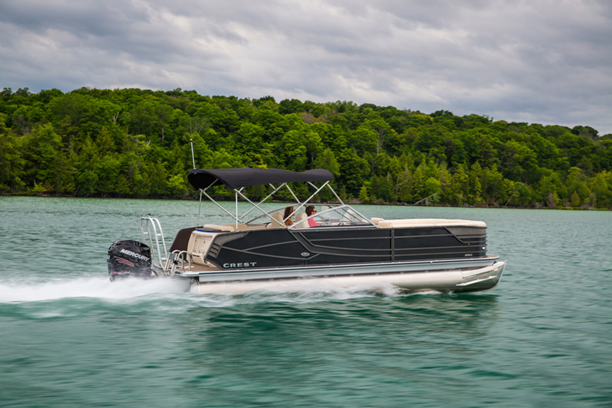 Crest is one of the fastest growing builders in the pontoon market.