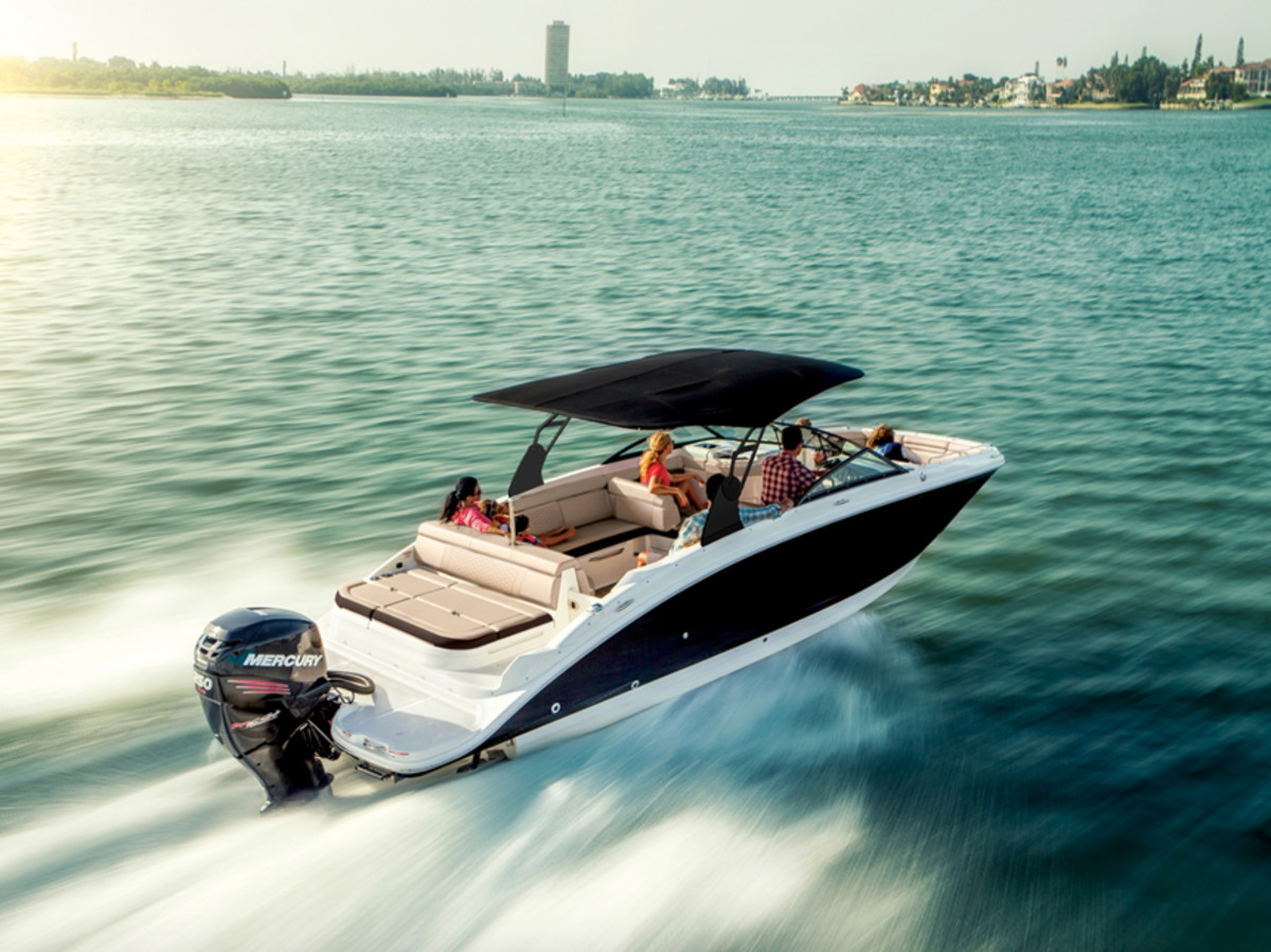 Sea Ray will increase its emphasis on outboard-powered boats under 40 feet. Shown here is SDX 270 OB, courtesy of Sea Ray.