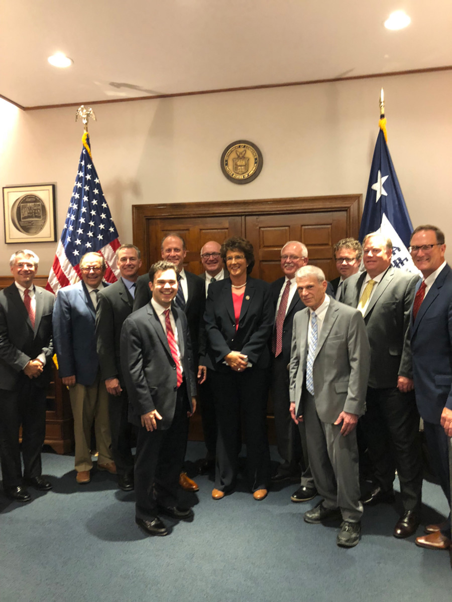Doug Smoker, president of Smoker Craft, and NMMA join Congresswoman Jackie Walorski and others in a meeting with U.S. Secretary of Commerce Wilbur Ross.
