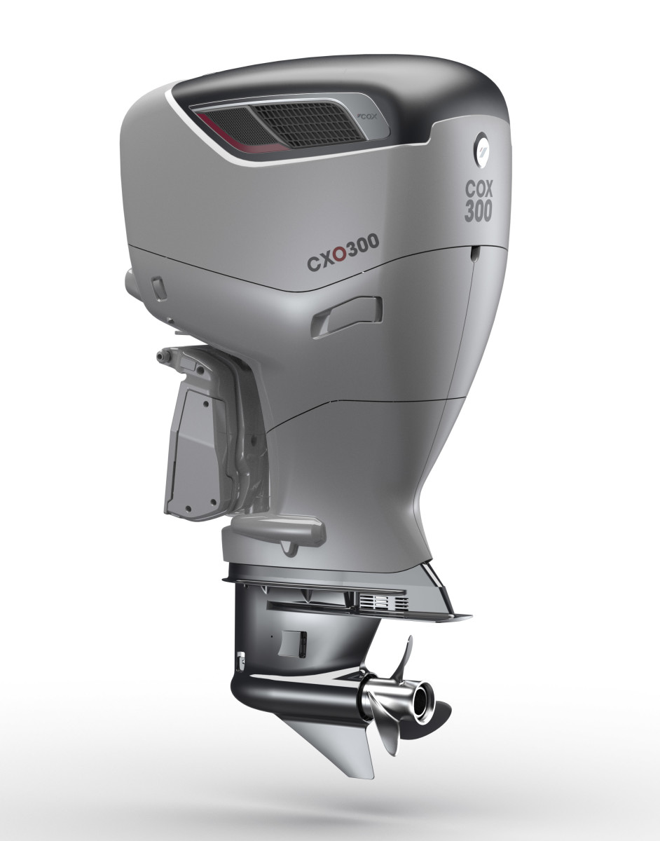 The Cox CXO300 is the world's first high-output diesel outboard.