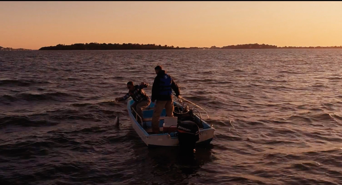 The video depicts men who work in the industry and often go fishing before work, according to MMTA.