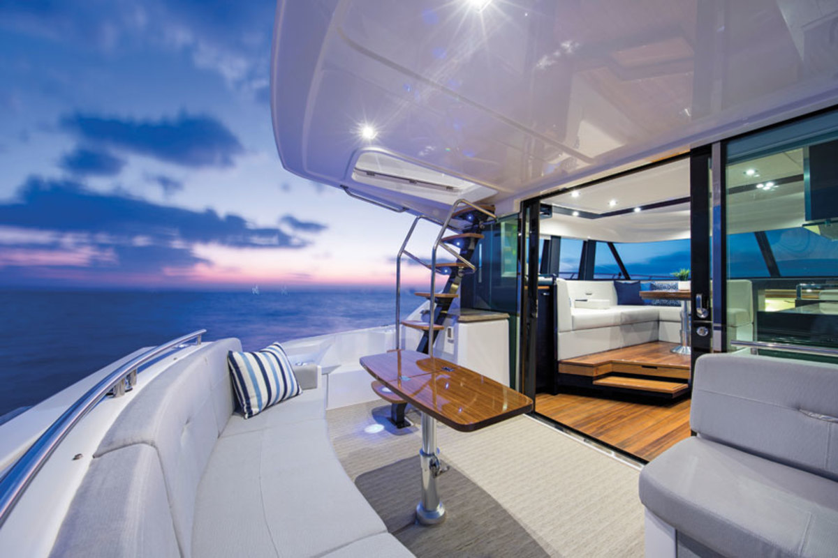 McCrickard helped rebrand Infinity woven flooring as a luxury product boaters know       by name.