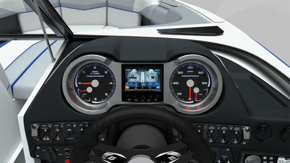 Supra and Moomba use the Vision Touch multifunction display, but buyers can opt for analog gauges.