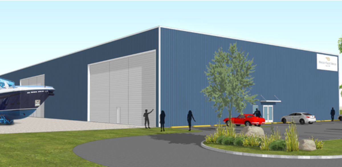 Designed to withstand Category 5 storms, the new building is expected to be ready for spring of 2019. Image courtesy of Hinckley.
