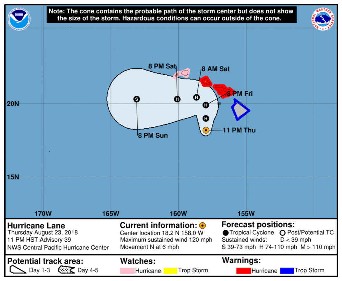 Lane is still very much a threat to the Hawaiian Islands.