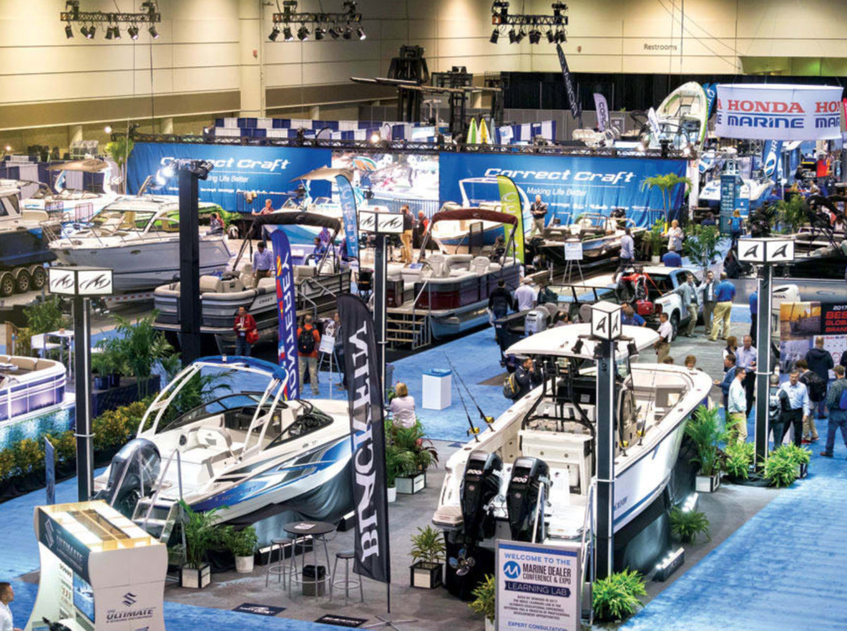 BI won't be involved in MDCE, shown here in 2017, and instead will produce a fall event catering to the entire industry instead of focusing on marine dealers.