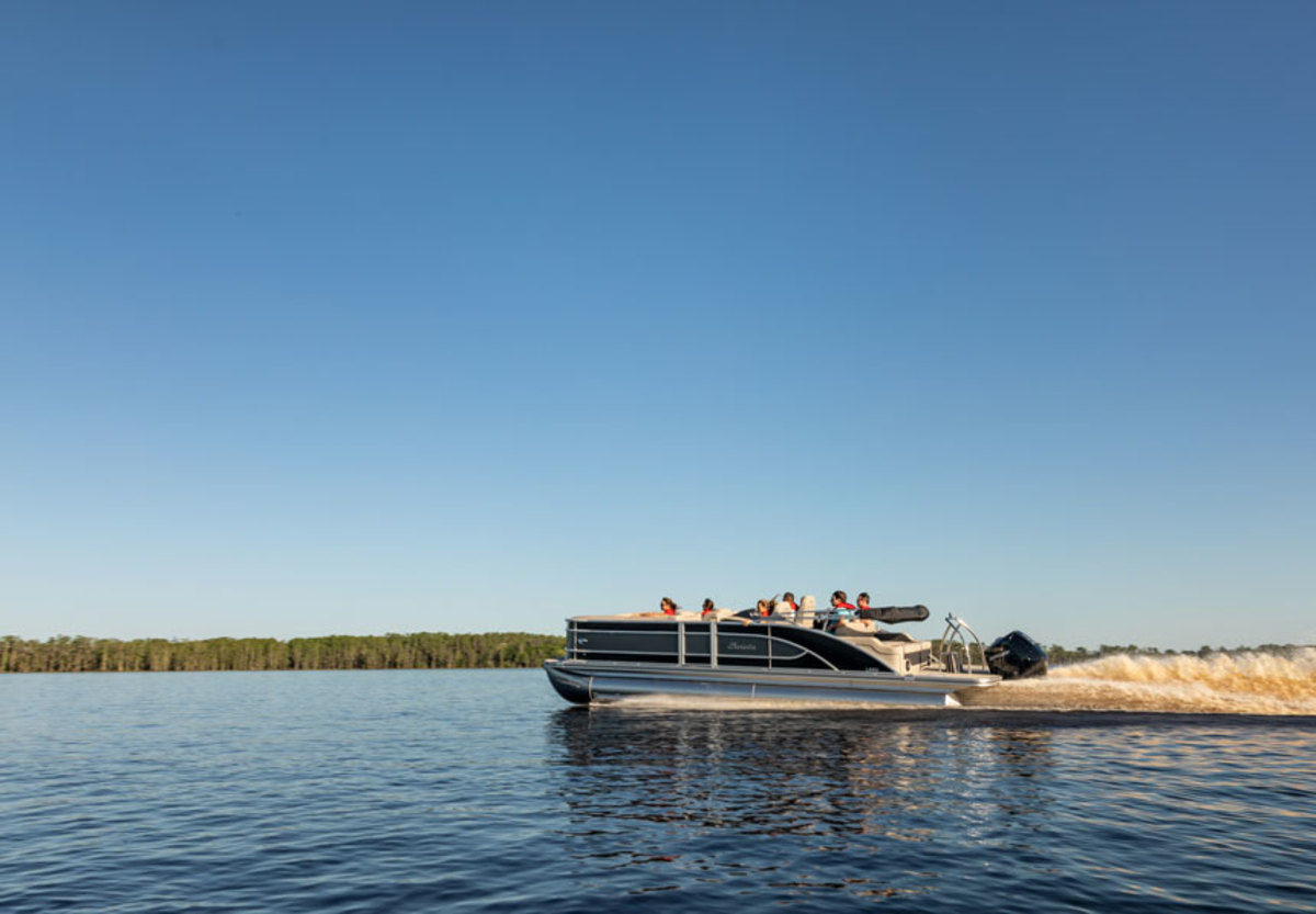 Pontoons led growth in July.