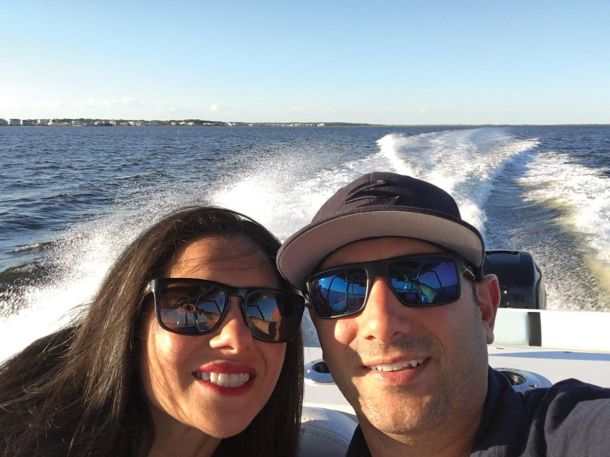 Joanne and Andrew Semprevivo on their home waters in New Jersey.