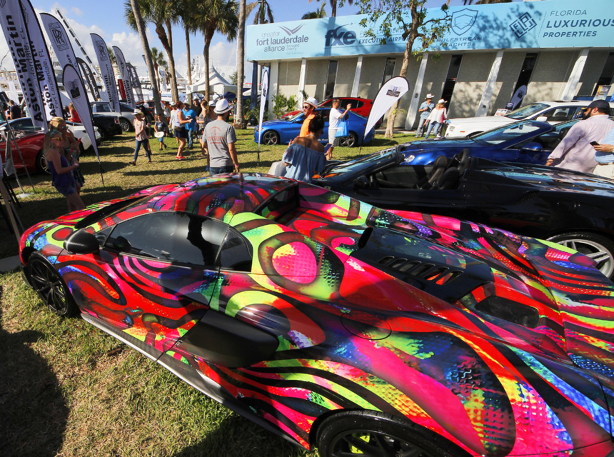 Exotic cars have become a draw for attendees and expanded the exhibitor base.