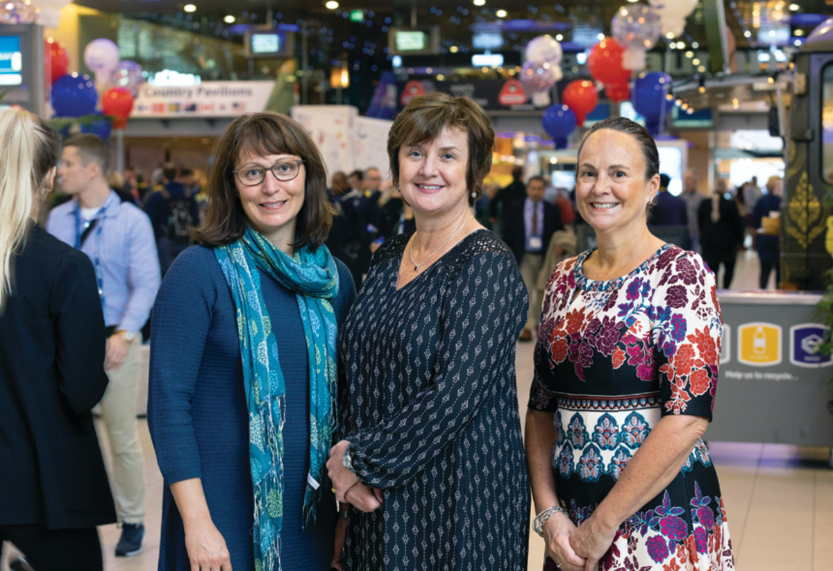 (From left) Kate Holden, Anne Dunbar and Tina Sanderson  have overseen IBEX's growth.