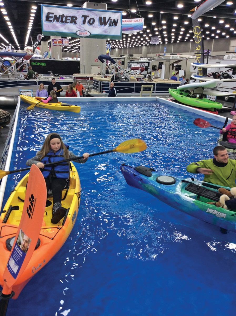 One female show manager's goal: Get the kids involved in boating at a young age.