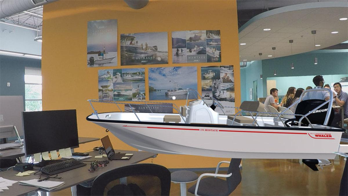 Boston Whaler's Montauk hologram