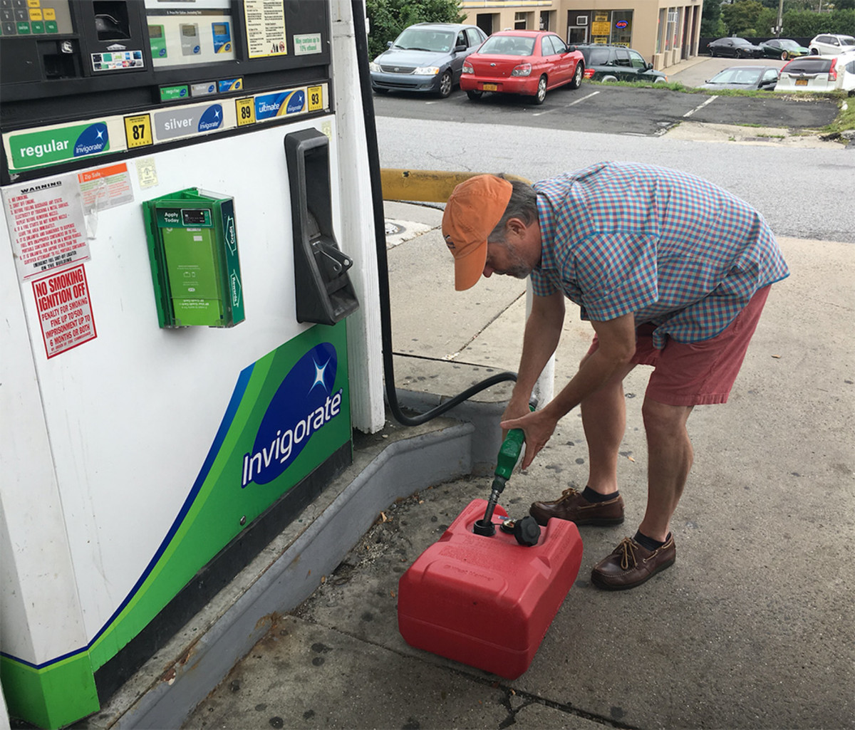 More than half of the boaters surveyed said they fill up at roadside gas stations.