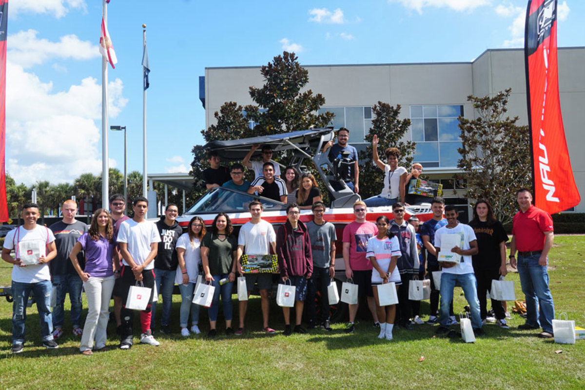 Students visited Correct Craft facilities as part of Manufacturing Day.