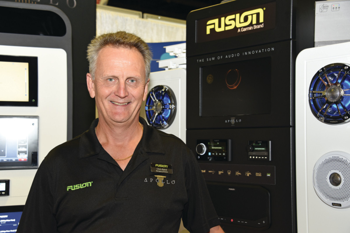 "Chris Baird says that under Garmin's ownership, Fusion has seen ""strong growth and expansion, especially"