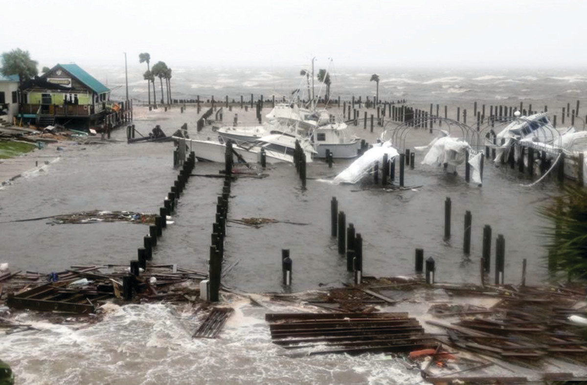 Powerful winds and a potent storm surge claimed boats at this marina in Port St. Joe, Fla.