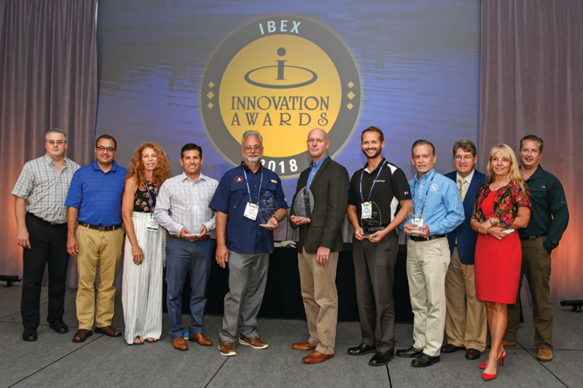 The Innovation Awards were handed out at IBEX during  the industry breakfast.