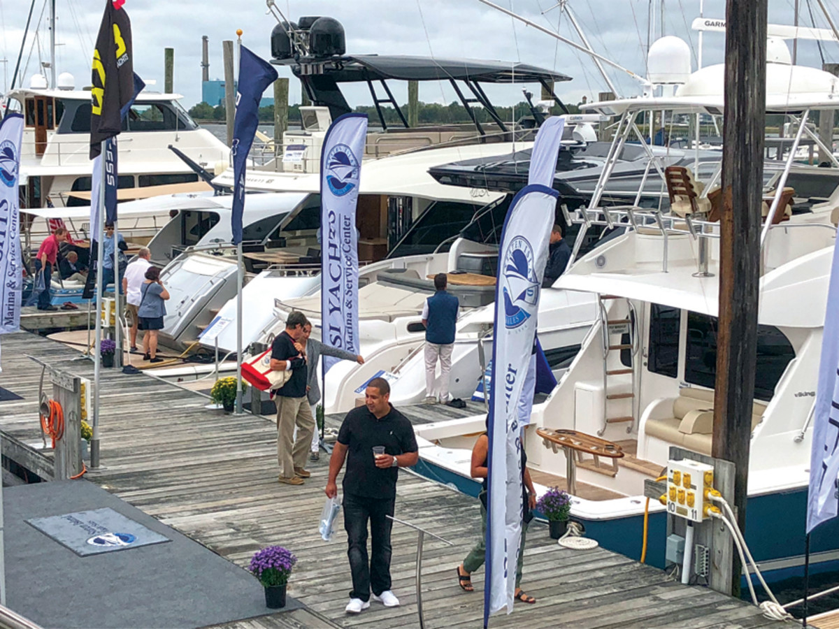 Show sales saw a boost from the reduced Connecticut State sales tax on boats, according to the NMMA.
