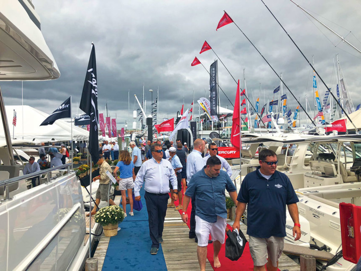 With cooler temperatures, the docks were busy all weekend.