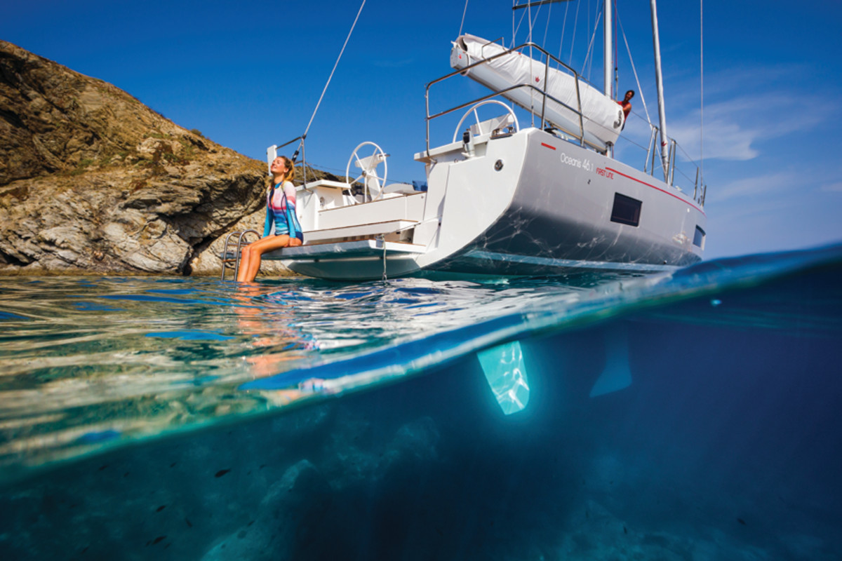 The Beneteau Oceanis compared to the Scarab jetboat  (below) shows the diversity of design across Groupe Beneteau.