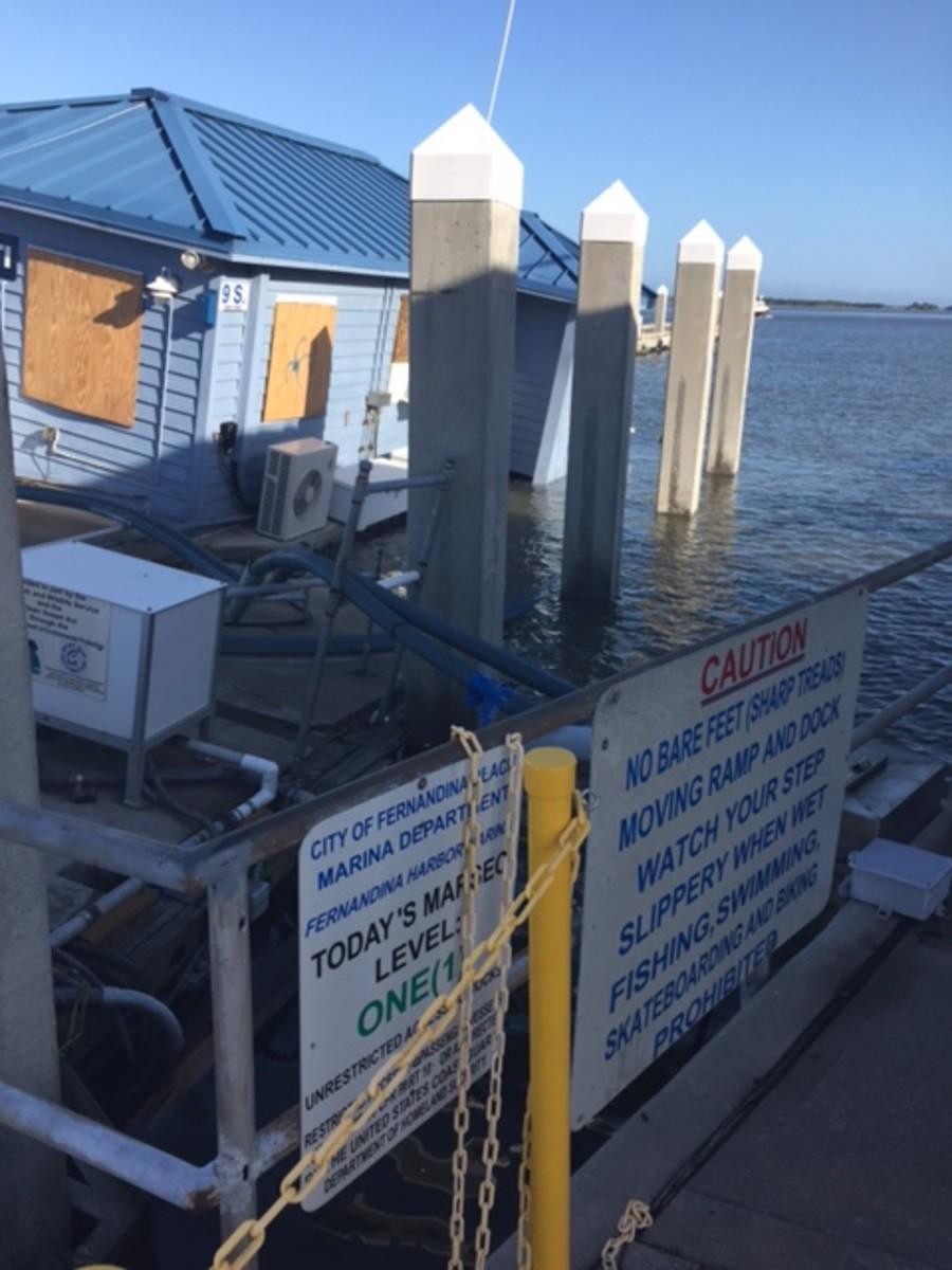 Damage at Fernandina Harbor Marina was estimated at nearly $15 million.