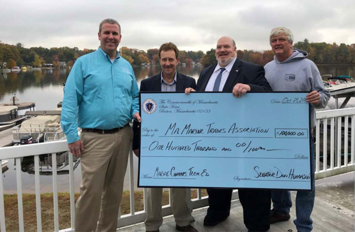 (left to right) Randall Lyons, Paul Nowak, Senator Don Humason and Kurt Saunders