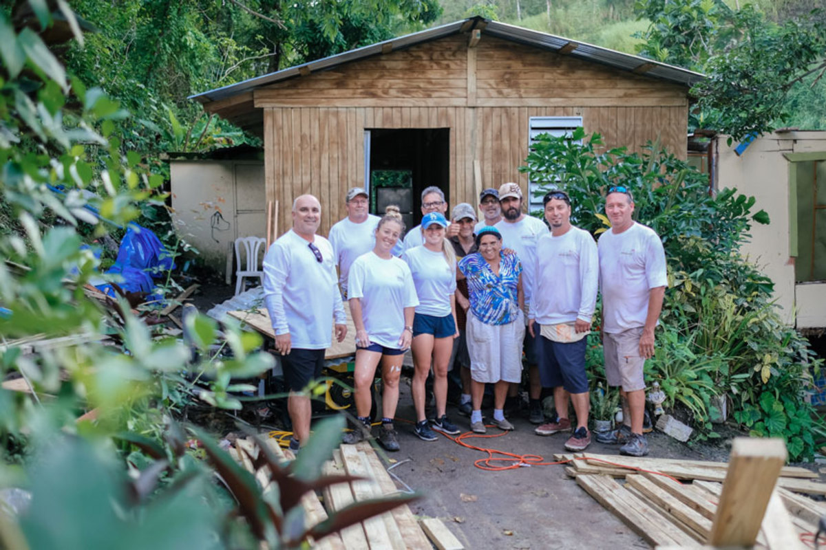 Employees and members of Nautique Boat Company's competition teams helped rebuild homes that were damaged by storms in Puerto Rico.