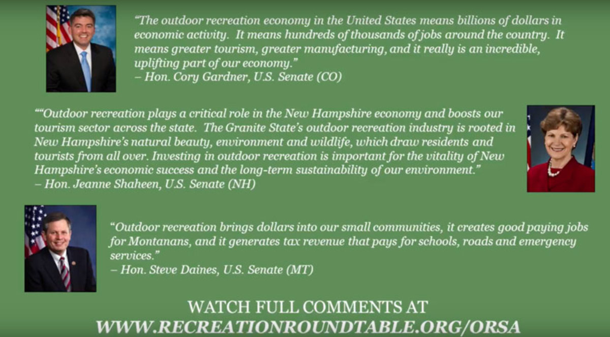 Screen grab from video highlighting economic value of outdoor recreation