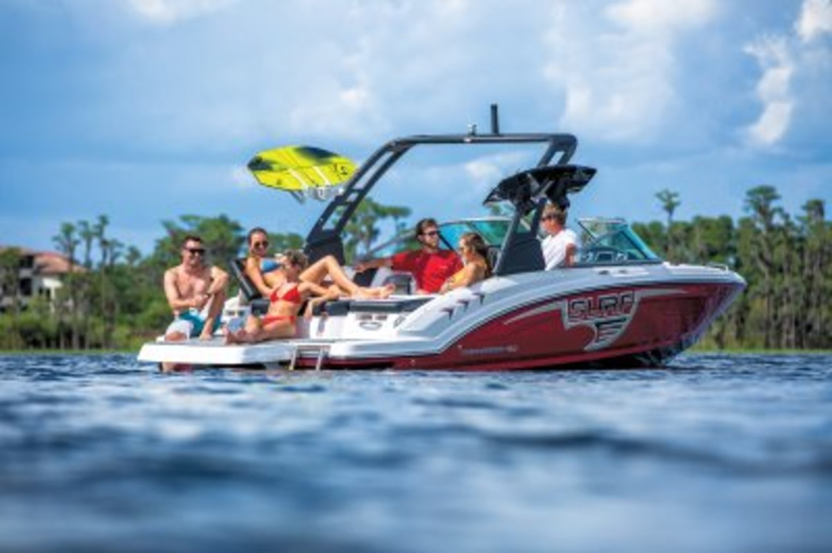 The 23 H20 Surf is one of Chaparral's new wakesurfing models.