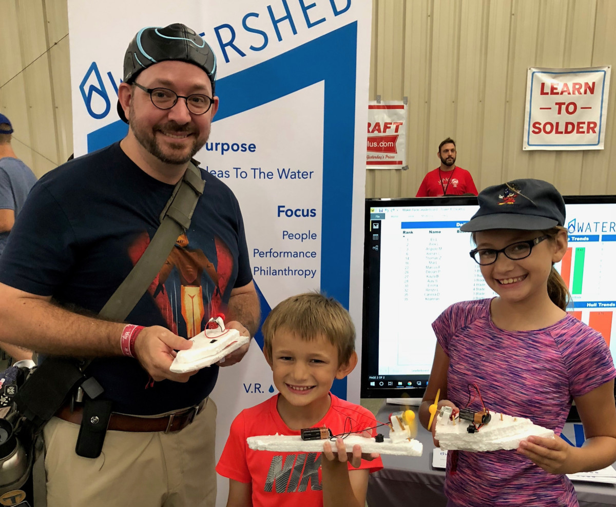 Maker Faire gave kids the chance to build their own projects.
