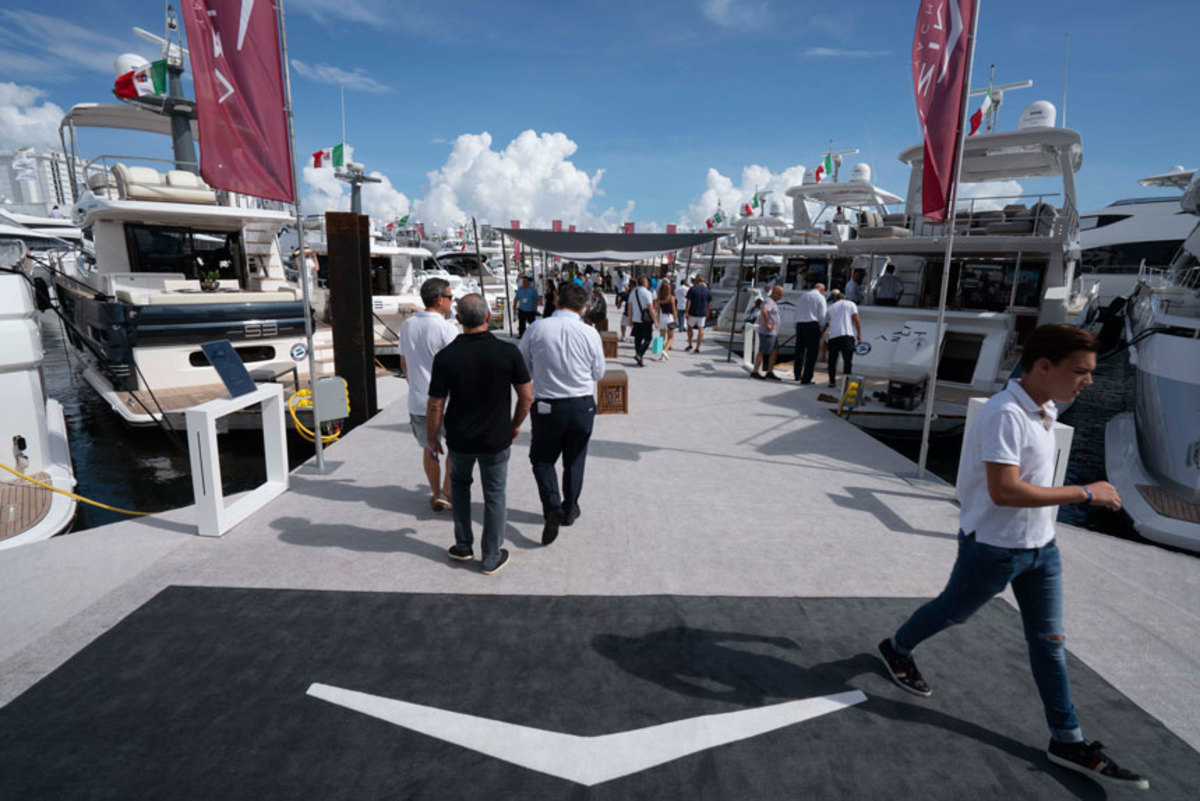 Azimut sales were strong for MarineMax in Fort Lauderdale