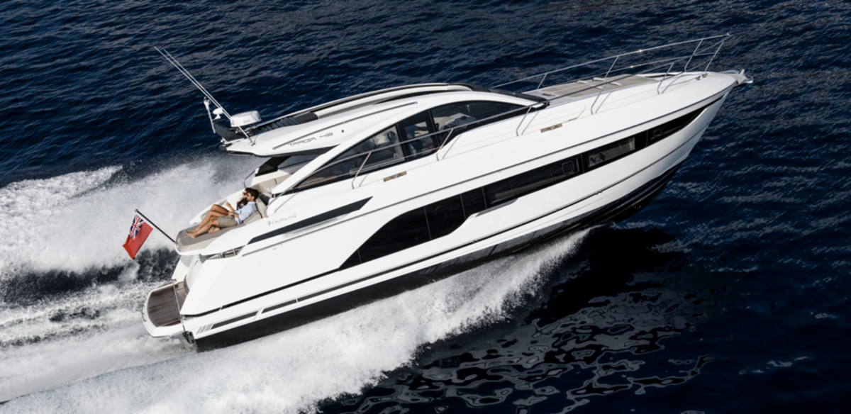 The Fairline Targa 43 Open is one of the boats Total Marine has at its new location.