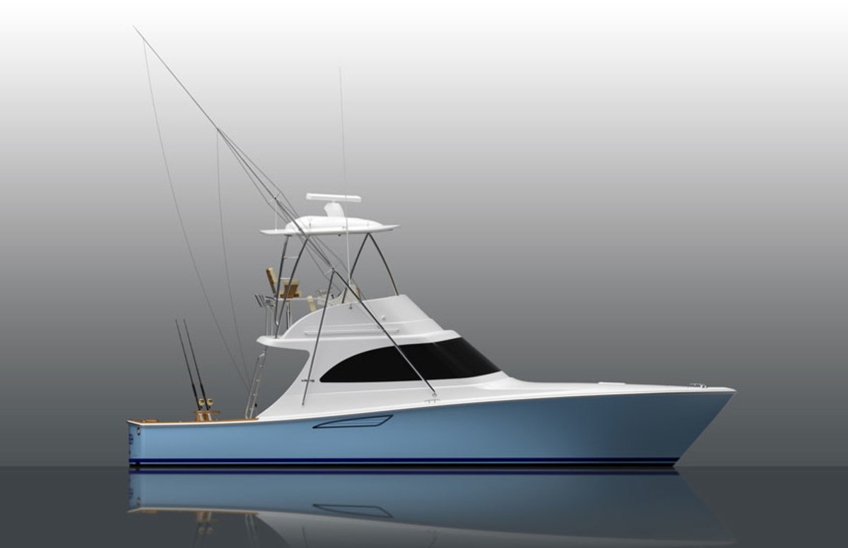 Here's a rendering of Viking's upcoming 38 Billfish.