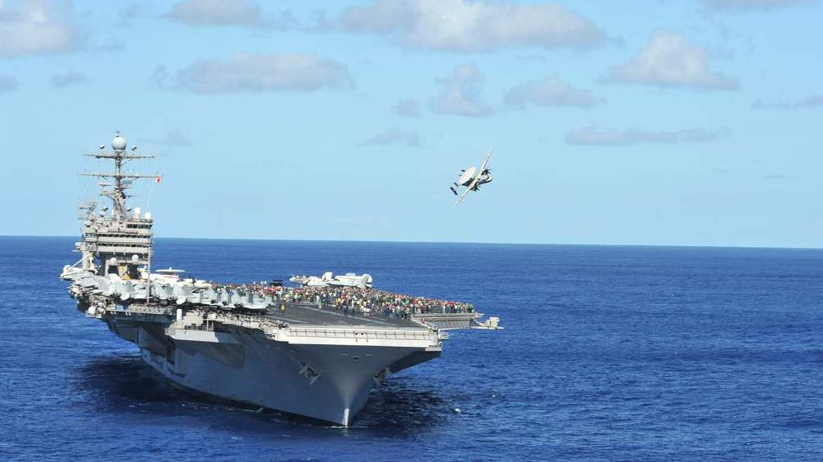 The aircraft carrier USS Abraham Lincoln was dispatched to the Florida Keys.