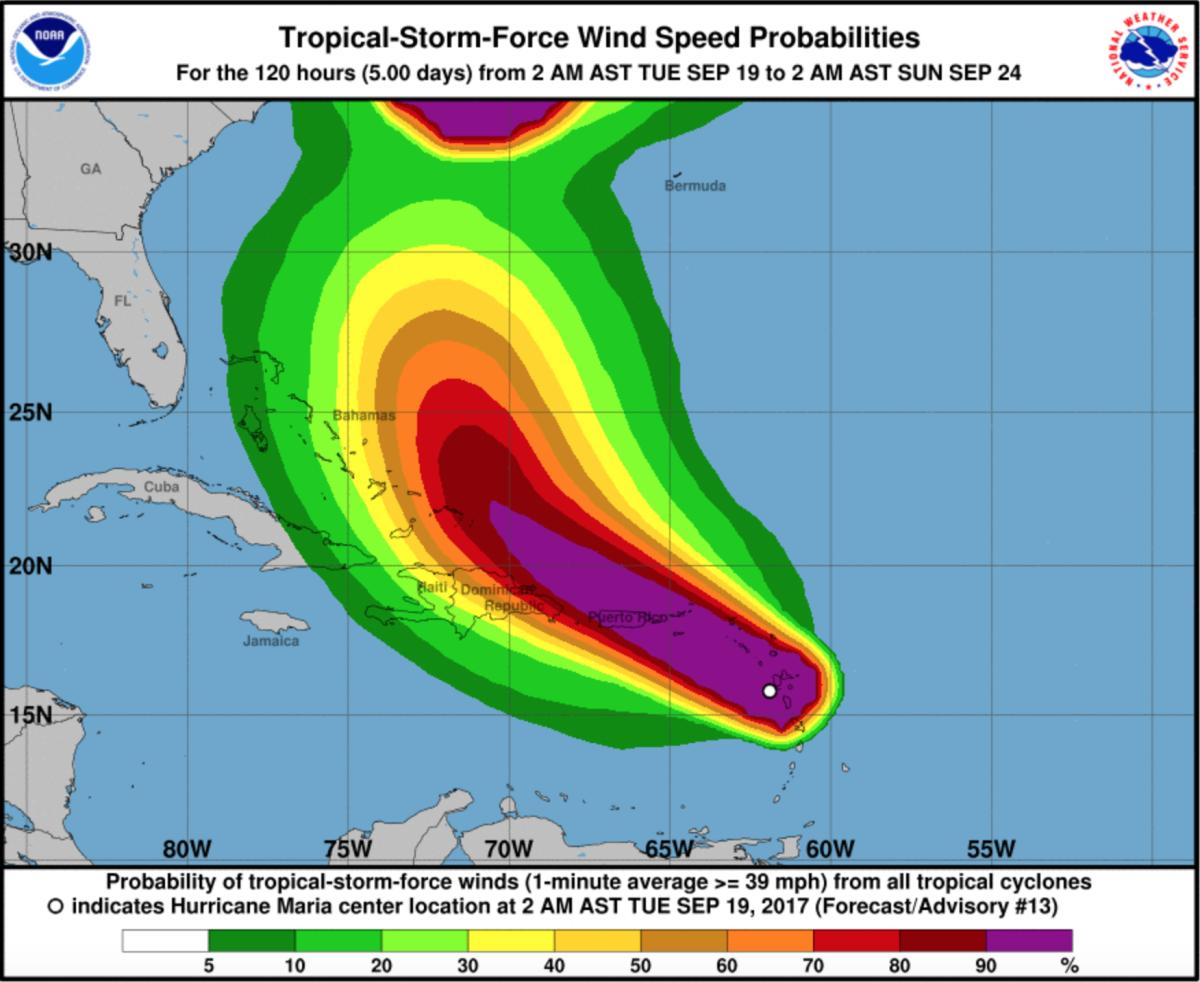 Maria Hurricane Map