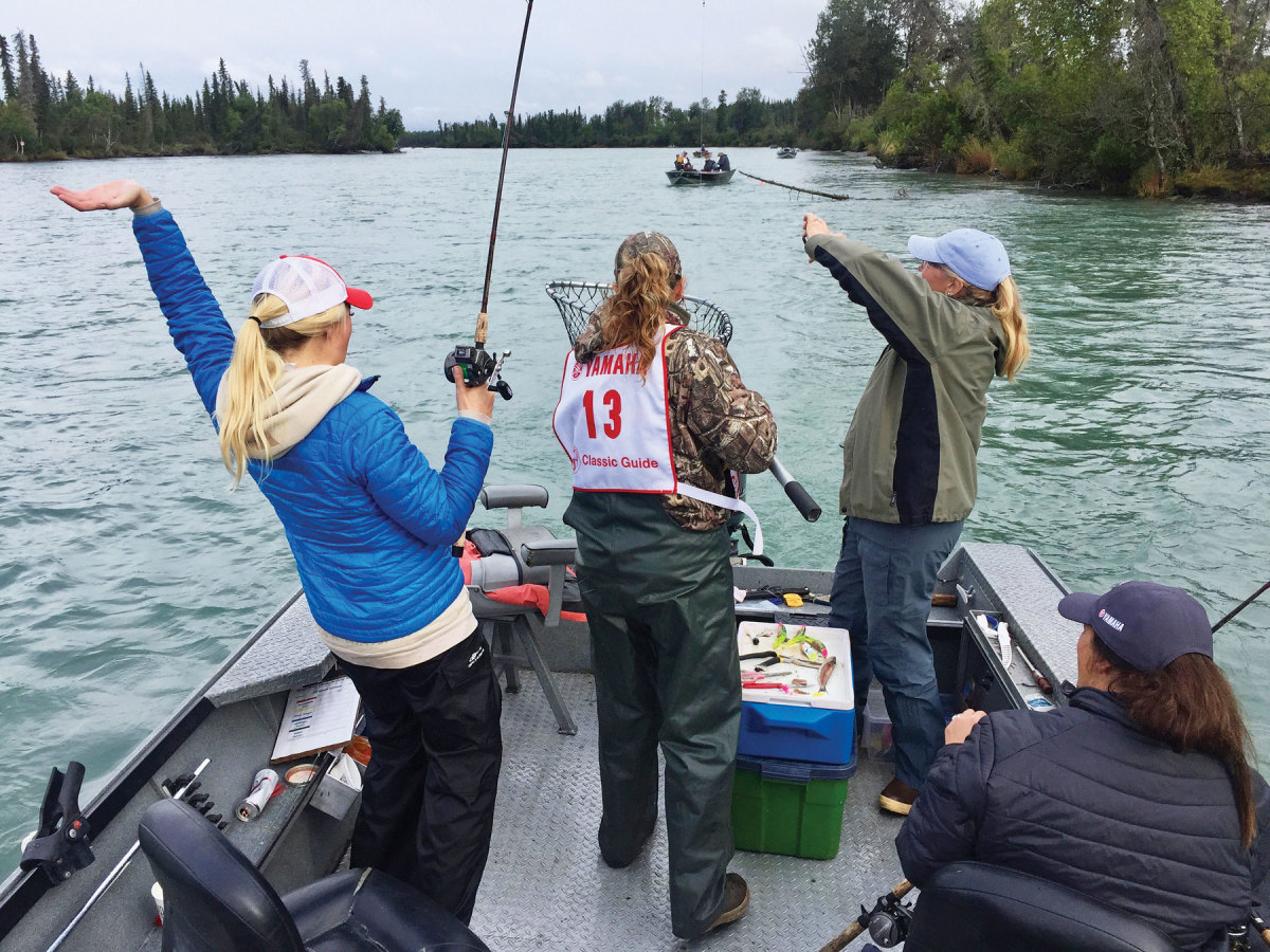 Women fishing in Alaska