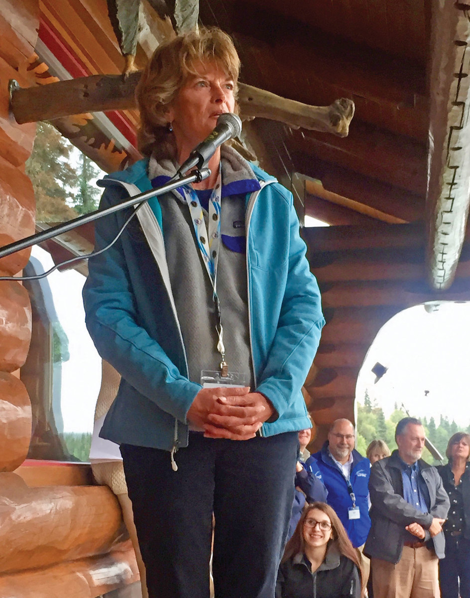 U.S. Sen. Lisa Murkowski, R-Alaska, spoke at a dinner, then joined in the angling the next day.